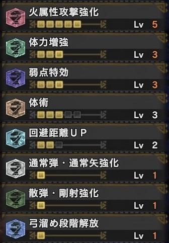 もんすたモンスターハンター:ワールド_弓_スキル構成.jpg